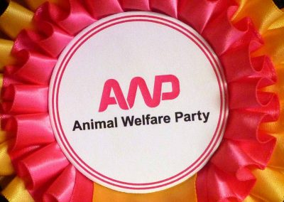 Animal Welfare Party election rosette