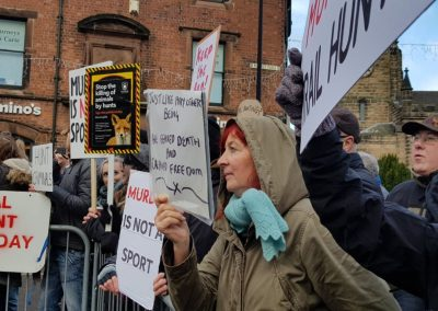 Animal Welfare Party's New Year's Day protest against the hunt, Uttoxeter,