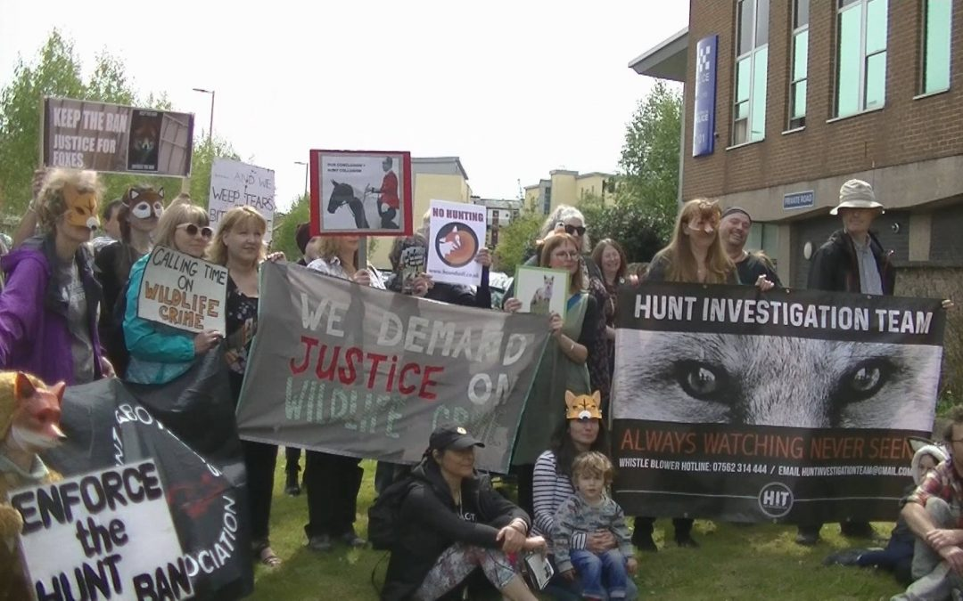 Hereford Police Station Protest – May 2018 Hunt Case