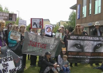 Animal Welfare Party's famous protest outside Hereford Police Station