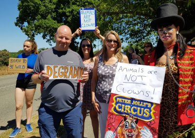 Animal Welfare Party's impromptu demo against the animal circus, Alsager, June 2018