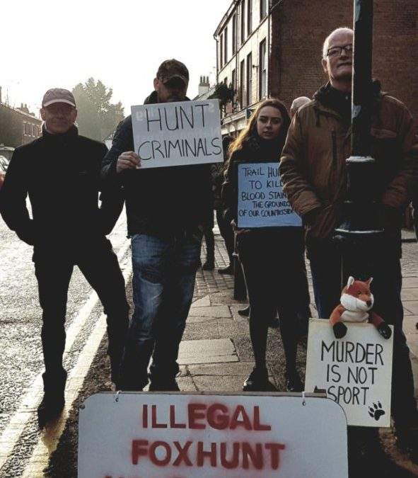 Protest Against Illegal Fox Hunting – Boxing Day 2018 Tarporley