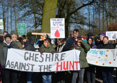 At the National Dis-Trust protest, Little Moreton Hall, February 2018