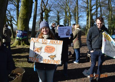 Jane Smith at the National Dis-Trust protest, Little Moreton Hall, February 2018