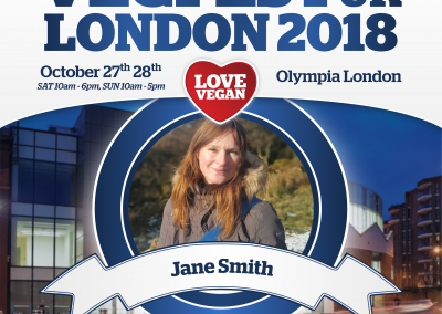Jane Smith speaking at VegFest London 2018