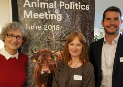 Jane Smith with Liz White, president, Animal Protection Party of Canada and APPC colleague