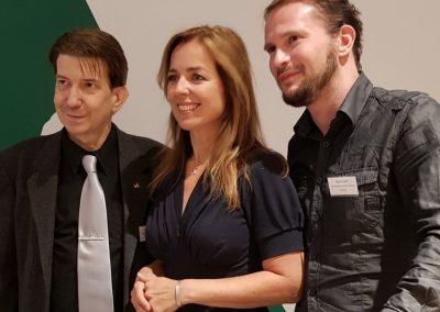 Martin Buschmann Partei Mensch Umwelt Tierschutz, Germany Marianne Thieme MP and Robert Gabel