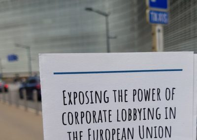 On a lobbying tour of Brussels led by Corporate Europe Observatory